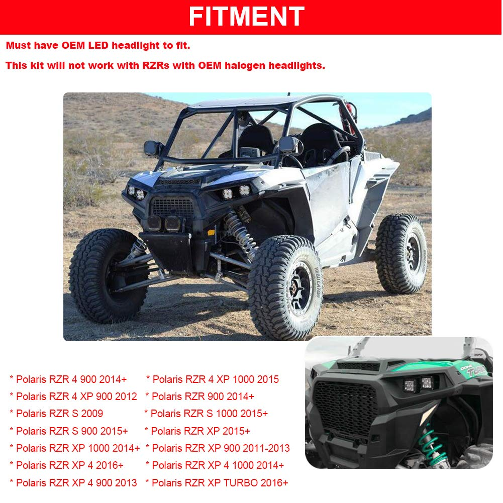 Front Camera Kit 2015-2019 Polaris RZR XP 4 1000 Turbo RZR 900 OEM