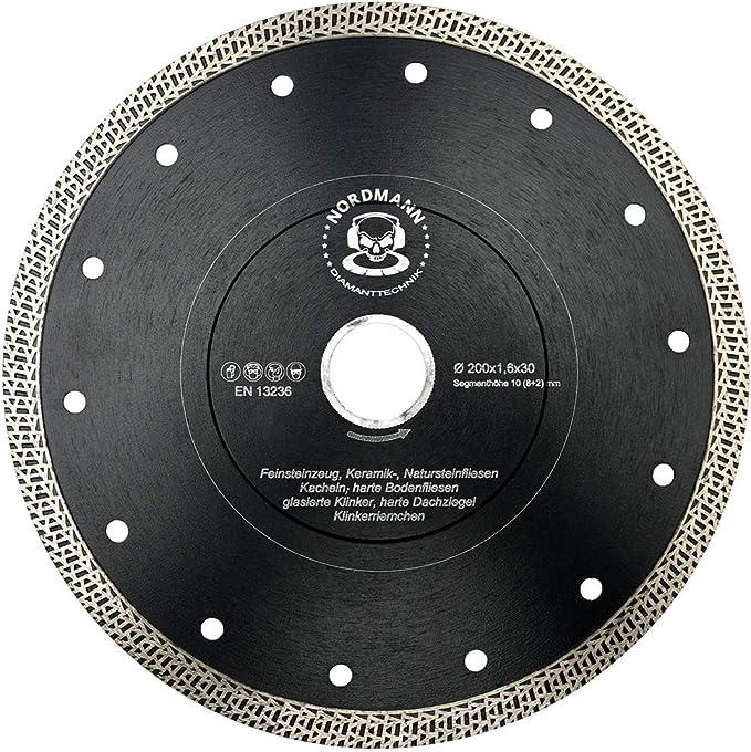 SHDIATOOL Diamant Trennscheibe 250MM Turbo Mesh Diamantklinge mit X Felgensegment f/ür Hart Keramik Porzellan Fliesen Granit