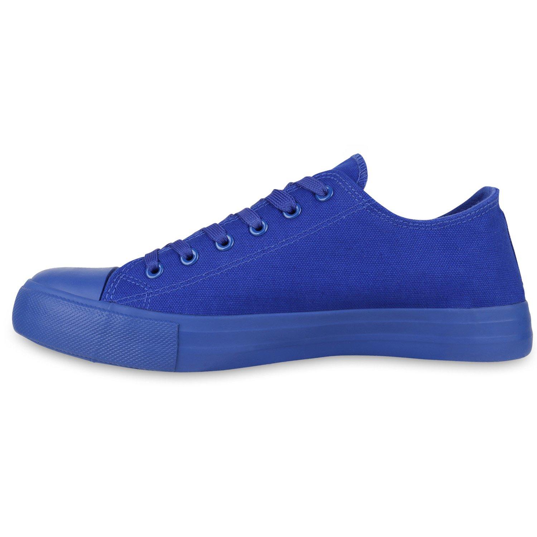 Stiefelparadies Unisex Damen Flandell Herren Sneaker Low Übergrößen Flandell Damen Blau All d405c9
