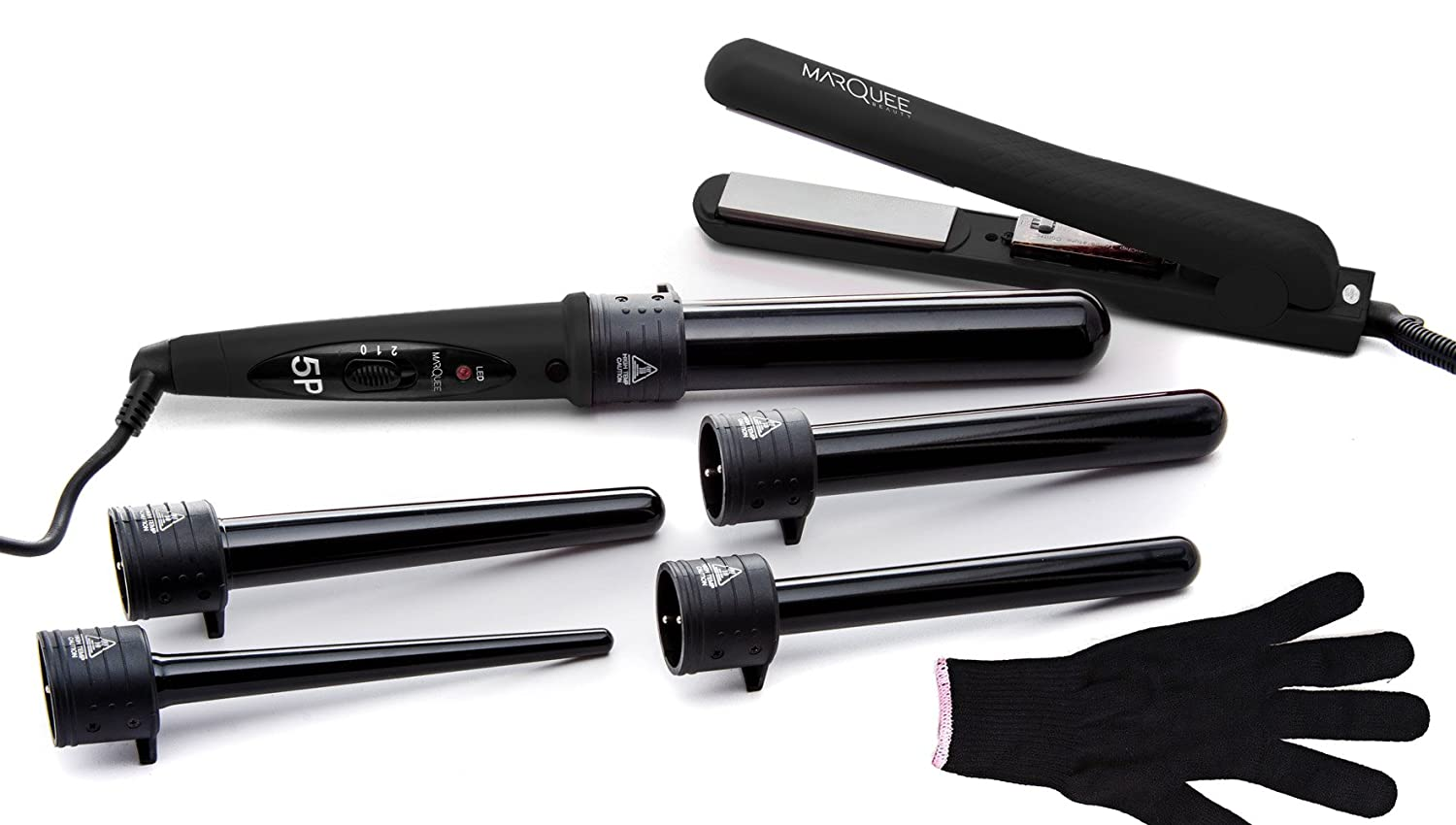 Amazon.com : Deluxe Beauty Professional 8 Piece Interchangeable Flat and Curling  Iron Set - Instant Hair Straightening Iron - Professionally Curl Your Hair  ...