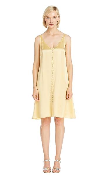 Lilysilk Vestido Vintage de Seda Estilo Vintage con Botones Adelante - 100% Seda de Mora
