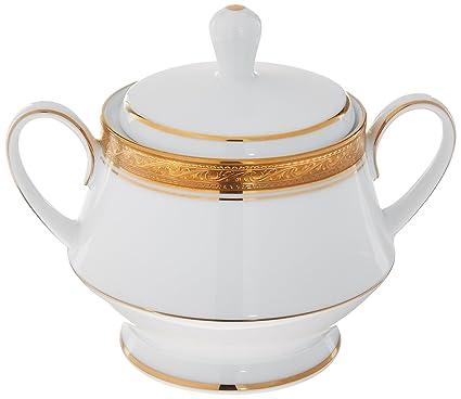 Amazon.com | Noritake Crestwood Gold Sugar Bowl with Cover: Sugar Bowls