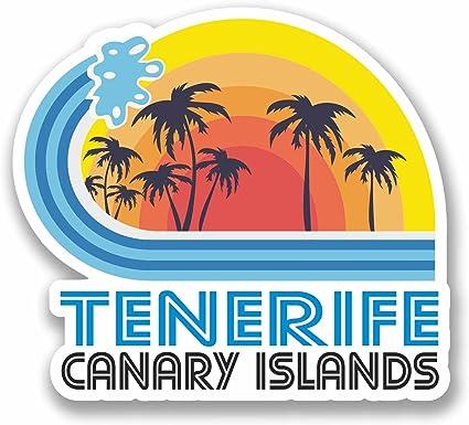 2 x 10 cm Tenerife España vinilo etiqueta etiqueta Laptop Viaje Equipaje kanarien # 9869: Amazon.es: Coche y moto