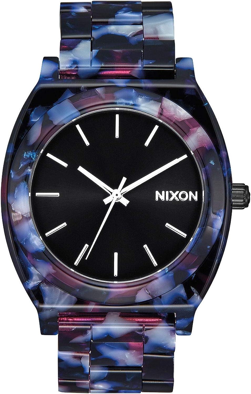 Nixon Time Teller Acetate Watch One Size Black/Multi