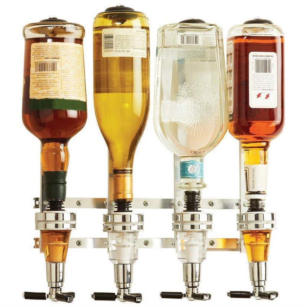 Supporto a Parete 4-Stazione Bar Maggiordomo Distributore di Vino Liquori Cocktail Generico