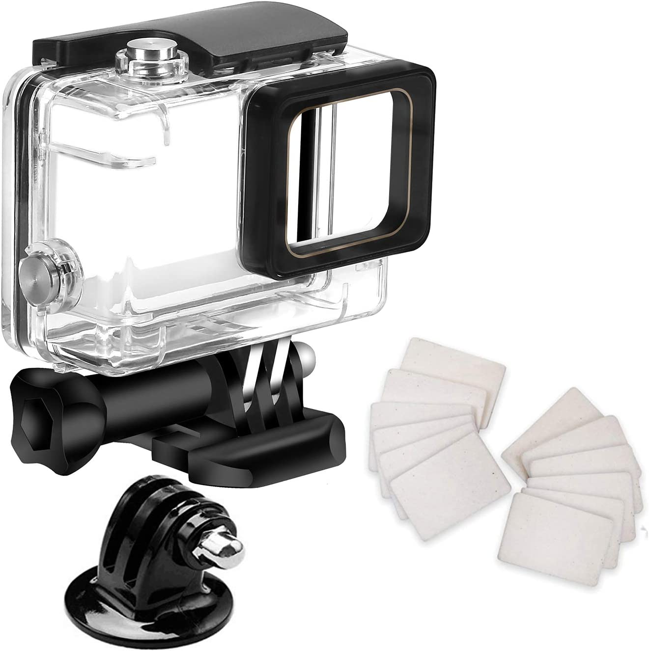 Waterproof Housing Case for Gopro Hero7 Hero 6 Hero 5 Hero 2018 Black, with Anti Fog Inserts Accessories Suitable for Underwater Diving Photography 45M Protective Shell