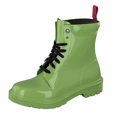 GOSCH SHOES Damen Schuhe BootsGummi Stiefel 7105-300 in 3 Farben (40, Türkis)