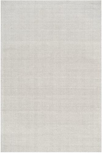 Safavieh Marbella Collection MRB721A Flat Weave Silver Wool Viscose Area Rug 8' x 10'