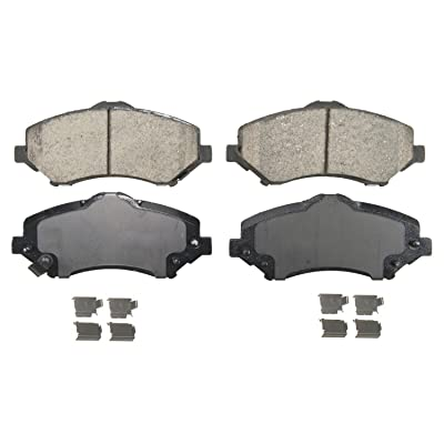 Wagner QuickStop ZD1273 Ceramic Disc Pad Set Includes Pad Installation Hardware, Front: Automotive