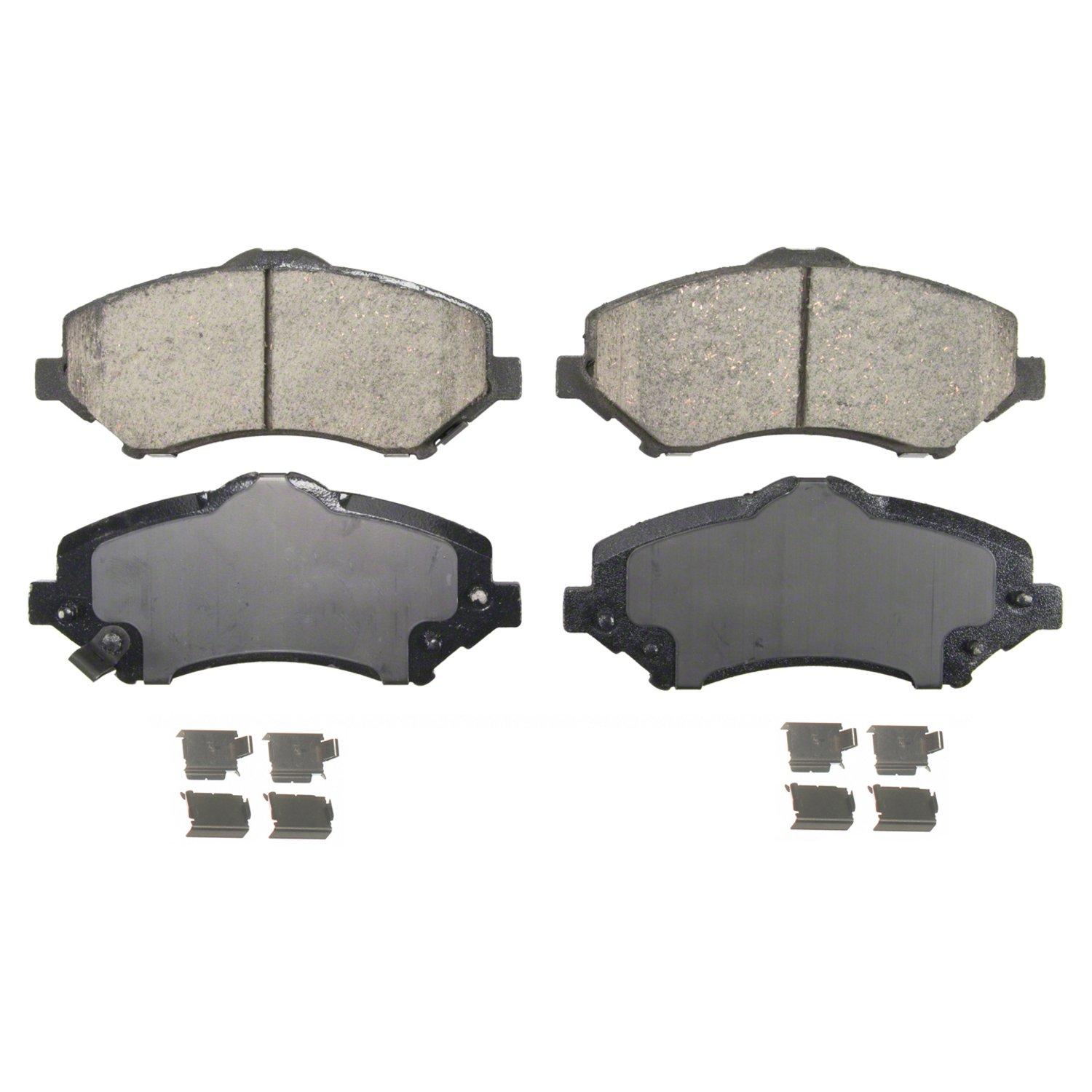 Wagner QuickStop ZD1273 Ceramic Disc Pad Set Includes Pad Installation Hardware, Front