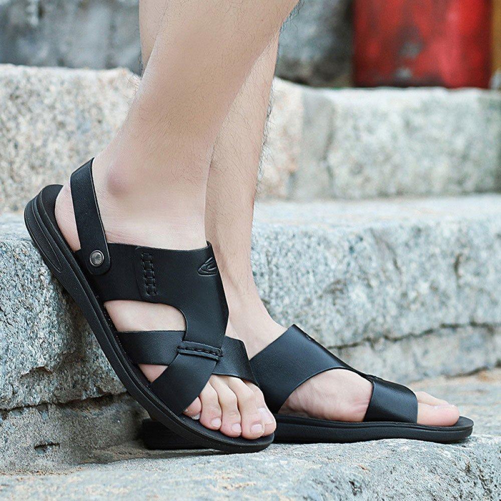 LEDLFIE Sommer Herren Sandalen Breathable Sandalen Sommer LEDLFIE Casual Beach Schuhe schwarz 41dbc4