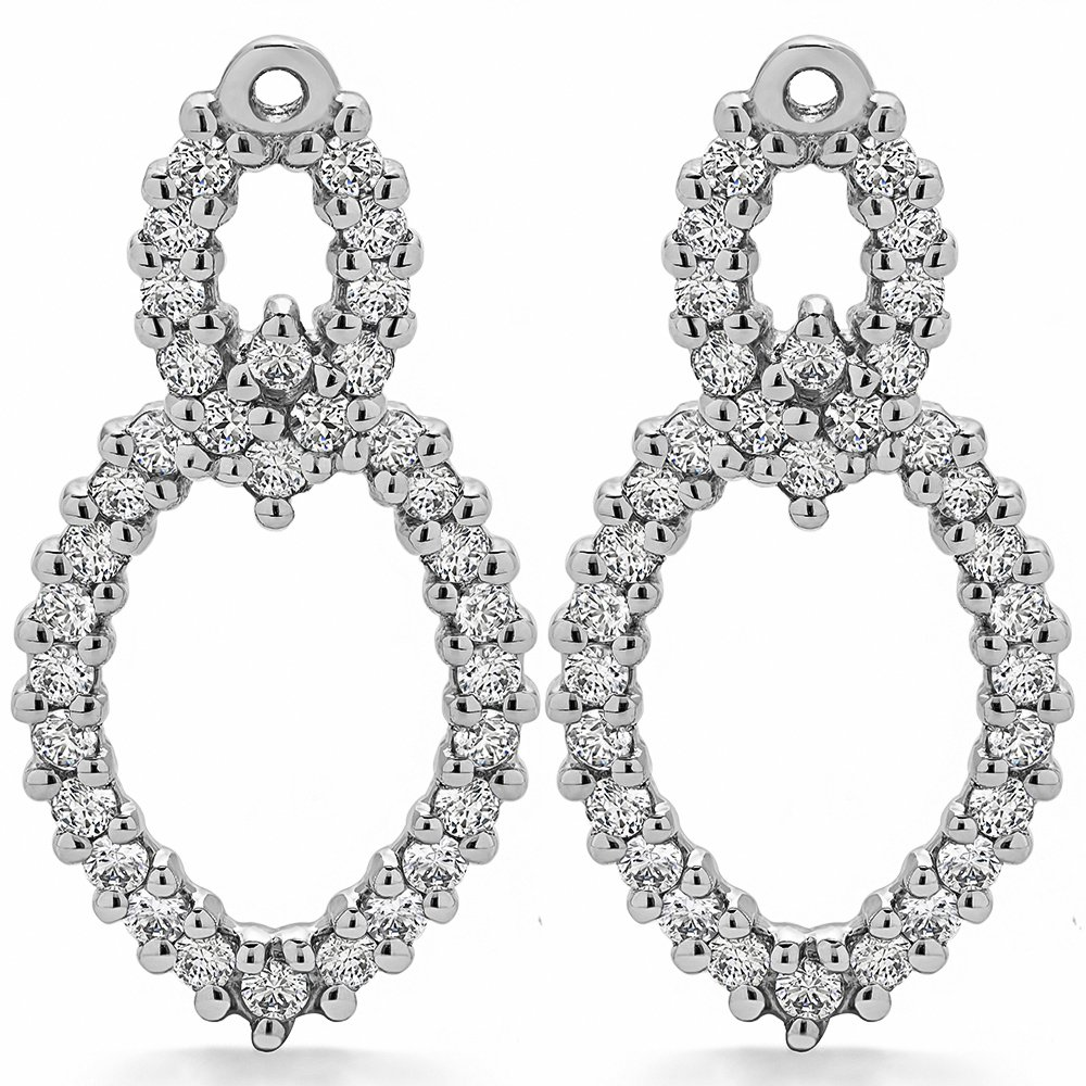 1.02 ct. Cubic Zirconia Chandelier Earring Jacket in Sterling Silver (1.02 ct. twt.)