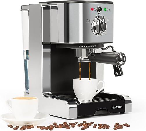 cappuccino ecc. con schiuma di latte Homever Macchina per caff/è espresso tradizionale 15 bar 1,5 l 1050 W vassoio lavabile per latte