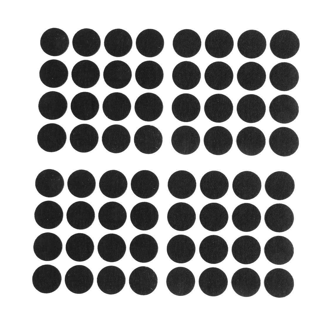 sourcing map Pr/ésidence Jambes marbre Meubles Protection Noir Coussinets en Feutre 18mm de diam/ètre 64pcs