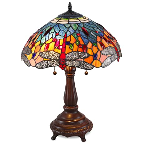 Tiffany Style Red Dragonfly Table Lamp Amazon Com