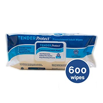 TENDERProtect® Adult Wipes with Aloe, 9x12, for Incontinence (600/Cs)