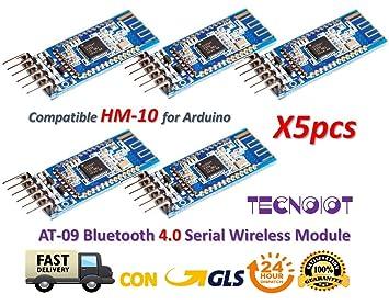 TECNOIOT 5pcs AT-09 Bluetooth 4 0 Module BLE CC2540