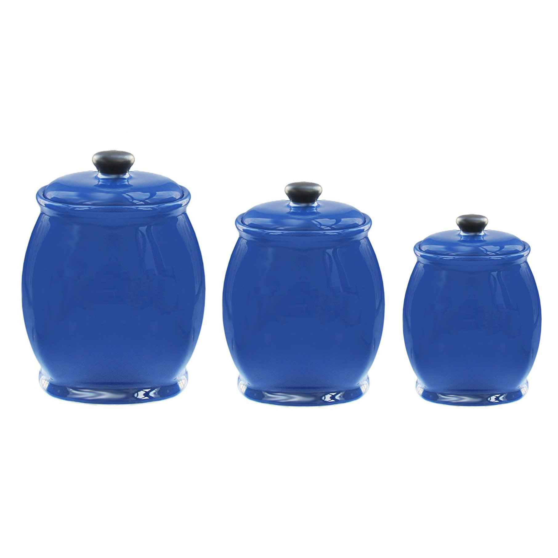 American Atelier Blue 3 Piece Canister Set (Blue - Set of 3)