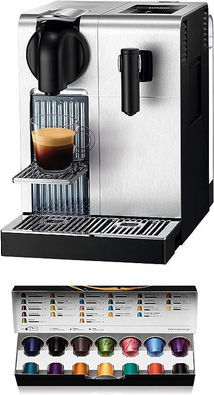 De'longhi Nespresso Lattissima Pro EN750MB Cafetera de cápsulas, 19 bares, apagado automático, depósito de leche, pantalla táctil, color aluminio