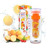 Infuser Water Bottle EMPO Fruit Tea Sports Bottle BPA-Free Tritan 27 Oz with FREE Recipe eBook - Leak Proof - Large Capacity Ideal summer Gift - Multiple Color Options