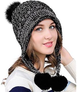 1c924842f57 SIGGI Womens Cable Knit Beige Peruvian Wool Hat Winter Pom Beanie ...