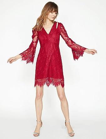 4576ba0d356e2 Koton Kadın Günlük Elbise kırmızı (kirmizi 420) 34 (Üretici ölçüsü: XS)