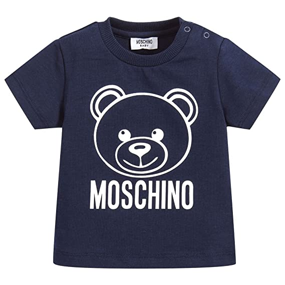 a4b7f8104c5fa1 Moschino T-Shirt Blu Con Orsacchiotto: Amazon.co.uk: Clothing