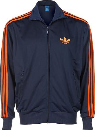 Adidas Firebird TT Jacke dark indigo collegiate orange XS