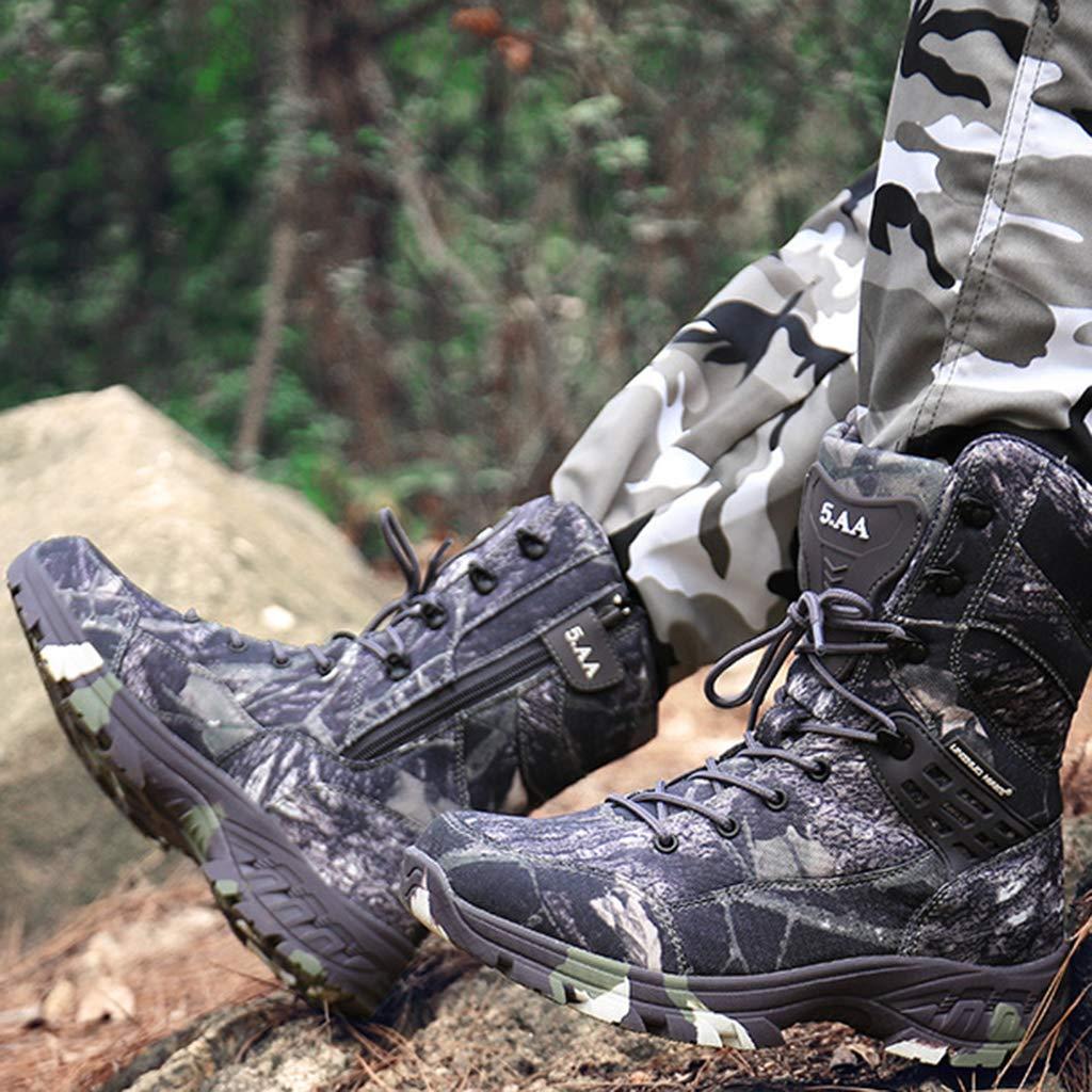 Snfgoij Taktische Stiefel Männer Sandkampf Sandkampf Sandkampf atmungsaktiv leichte, hochtopige Tarnung Wasserdichte Militärstiefel Rutschfest bbddbd