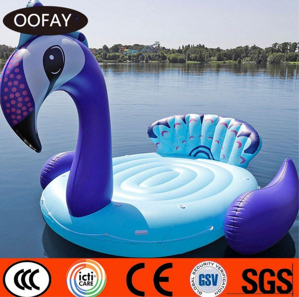 OOFAY Colchón Hinchable Flotante de PVC de Lujo con Diseño ...