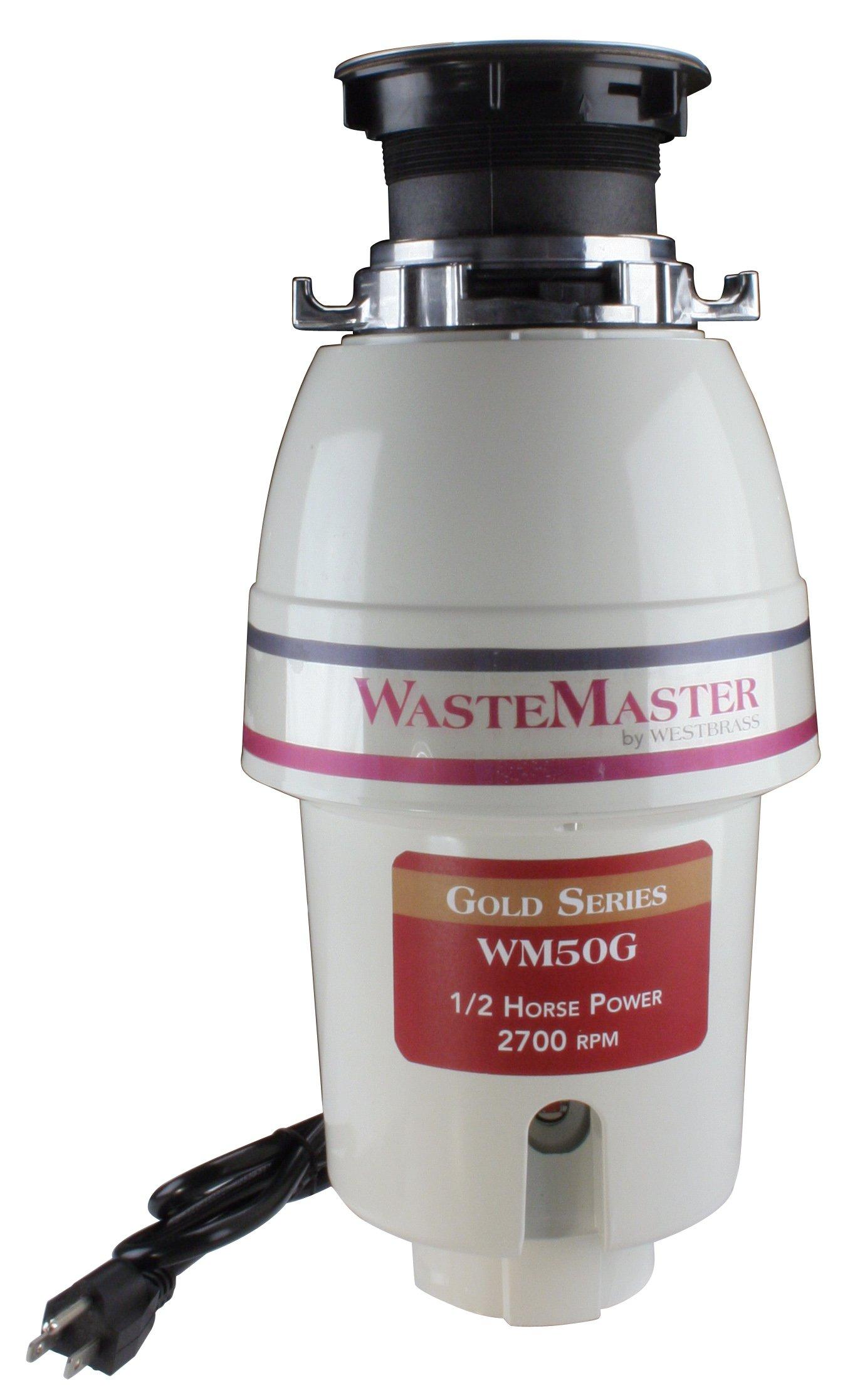 WasteMaster WM50G 1/2 HP Gold Series Continuous Speed Waste Disposer