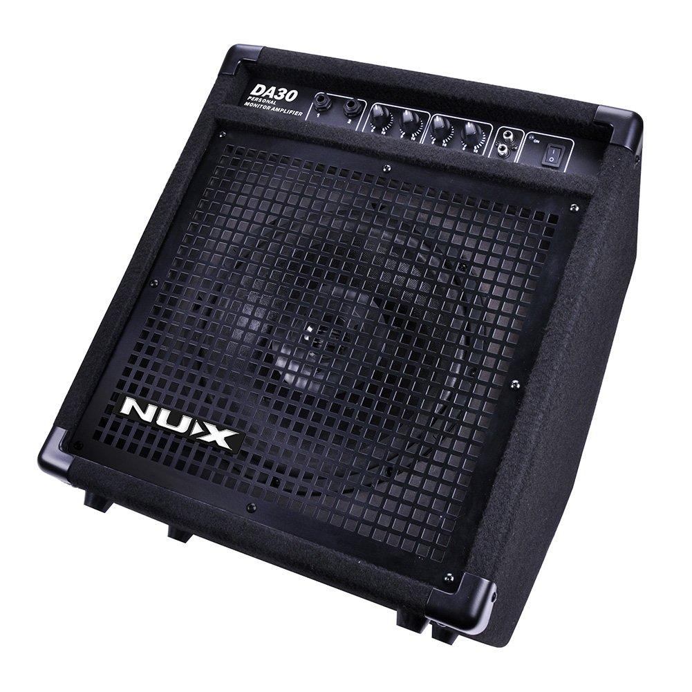NUX DA30 Electronic Drum Set Monitor Amplifier Percussion AMP 30 Watt 10'' Full-Range Coaxial Speaker