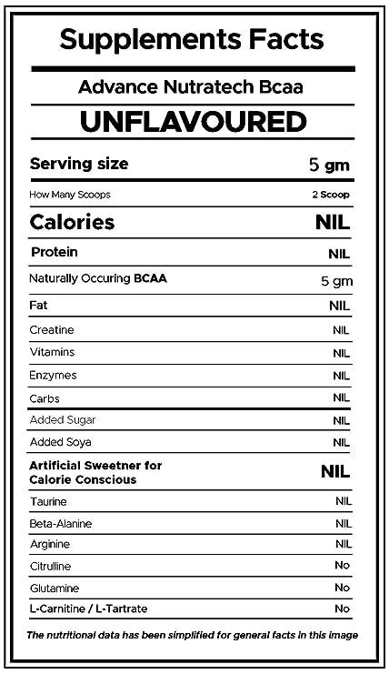 Advance Nutratech Bulkamino Bcaa 2: 1: 1-500G Supplement Powder