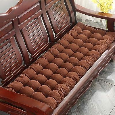 Thicken Solid Wood Bench Cushion, Non Slip Patio Long Chair Cushions Rocking Chair Cushions Indoor Outdoor Seat Cushion Sofa Cushion-Coffee 48x120cm(19x47inch): Home & Kitchen