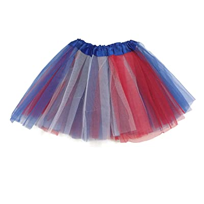 Rush Dance Colorful Ballerina Girls Dress-Up Princess Costume Recital Tutu (Kids 3-8 Years, Red/Blue/White (Patriotic)): Toys & Games