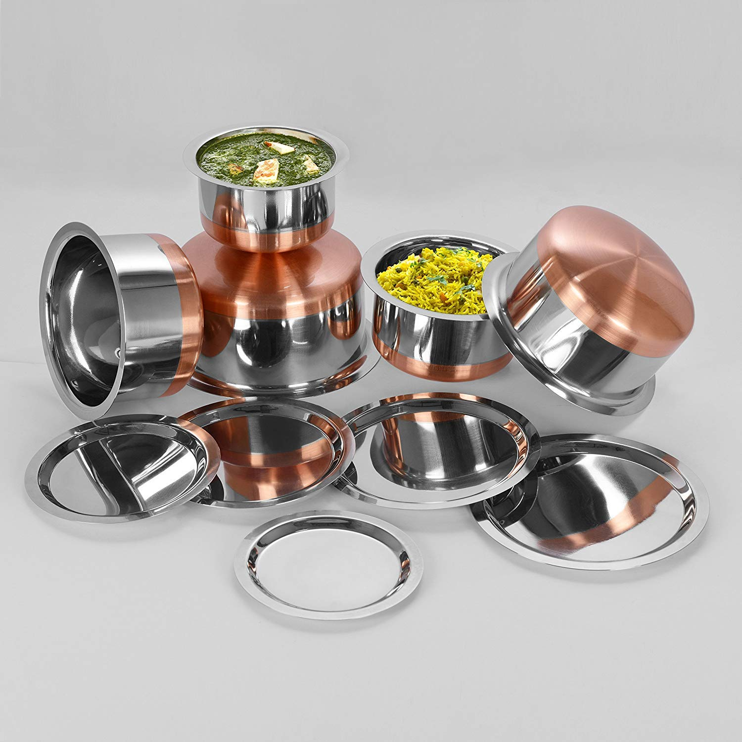 Aristo Stainless Steel best Copper bottom cookware Tope set with Lid