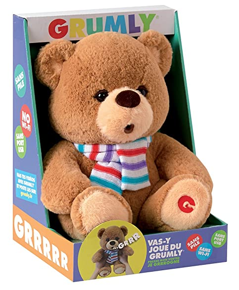 Jemini - Peluche - Grumly - Ours Grumly Sonore 32cm - 3298060222662