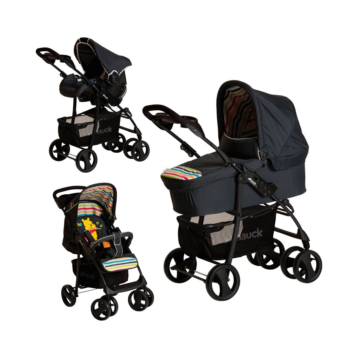 hauck 3 in kinderwagen komplettset shopper slx trio set inkl babyliegeschale kinderautositz. Black Bedroom Furniture Sets. Home Design Ideas