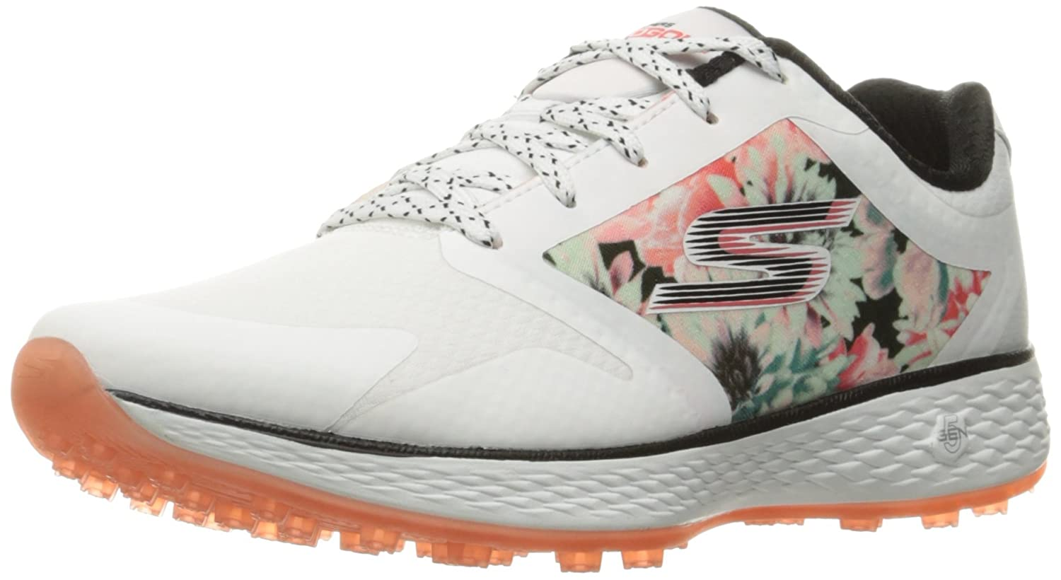 Skechers Women's Go Golf Birdie Golf Shoe B01H07GIQA 8 B(M) US|White/Multi Tropic