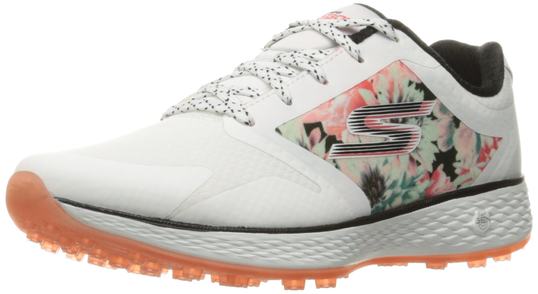 Skechers Performance Women's Go Golf Birdie Tropic Golf Shoe, White/Multi Tropic, 11 M US