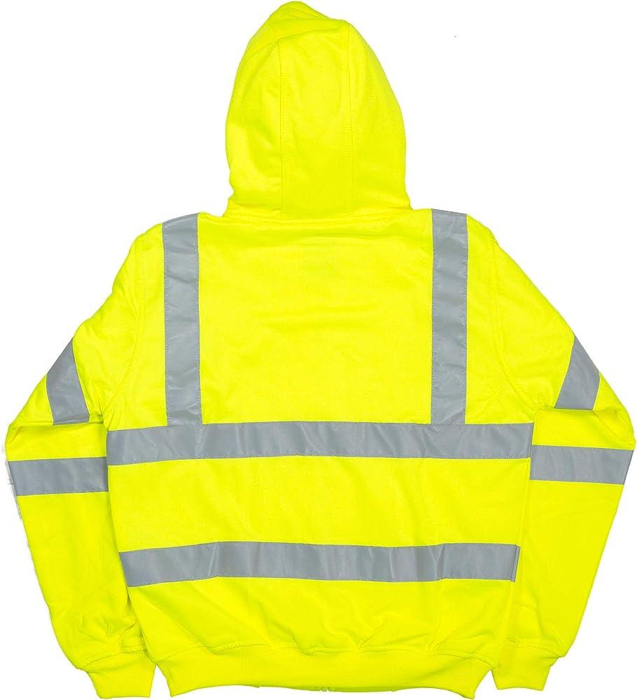 Berne Hi Vis Class 3 Lined Hooded Sweatshirt Medium Regular Yellow At Amazon Men S Clothing Store Fashion Hoodies