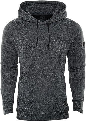 Nike Men's Jordan Icon Tech Pullover Hoodie, Black,XXL US