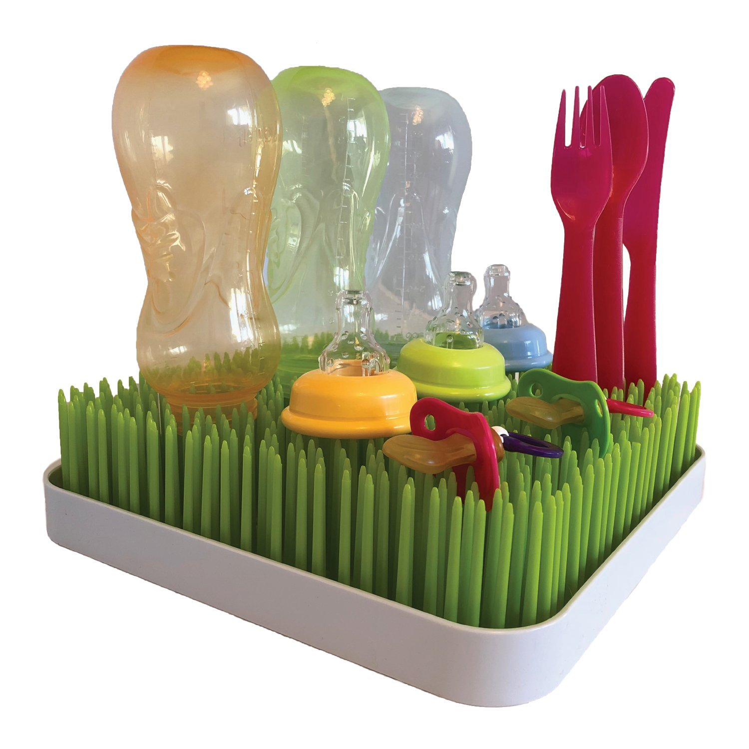 Kuddly Kids Baby Bottle Drying Rack- Our BPA FREE Countertop Dryer Rack Makes sure all your Baby Bottles, Sippy Cups, Nipples and Baby Dishes are Dried Sanitarily by Kuddly Kids
