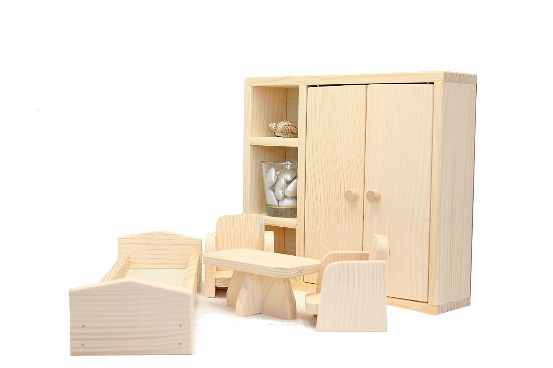 Jouet en Bois Natural Pine pour Enfant Set Chambre pour les Poupées et les Poupées Barbie