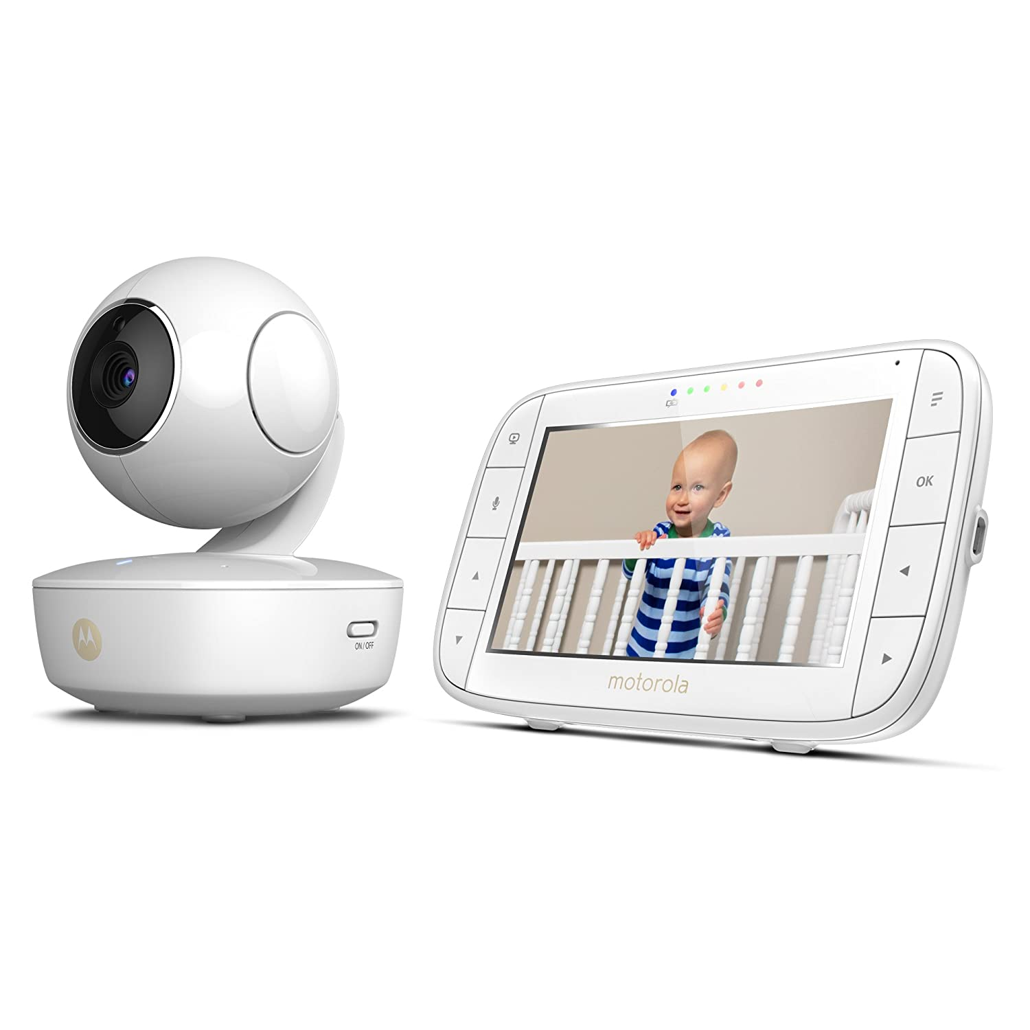 motorola 5 portable video baby monitor mbp36xl. amazon.com : motorola mbp36xl portable video baby monitor, 5-inch color screen portable, rechargeable camera with remote pan, tilt, and zoom, two-way audio, 5 monitor mbp36xl o