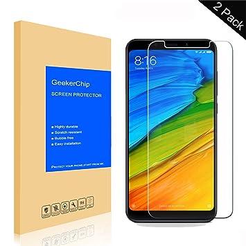GeekerChip Protector de Pantalla Xiaomi Redmi Note 5 Pro [2-Unidades],Protector