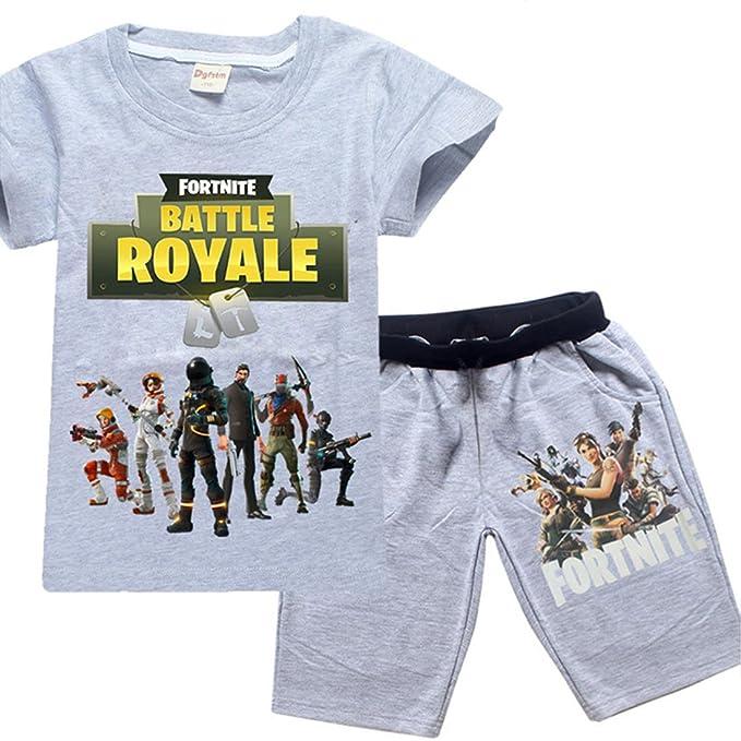 dgfstm Pijama dos piezas - para niño Gris Grey Set Small