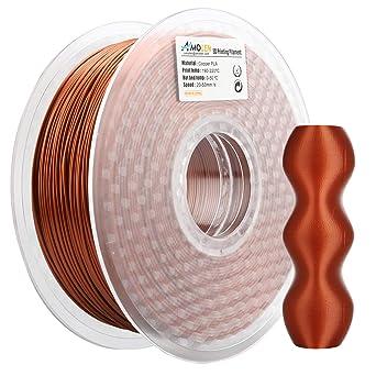 AMOLEN PLA Filamento Impresora 3D 1.75mm Cobre Esmerilado 1KG,+/- 0.03mm Materiales de impresión 3D de filamento, incluye Filamento de Cambio de color ...