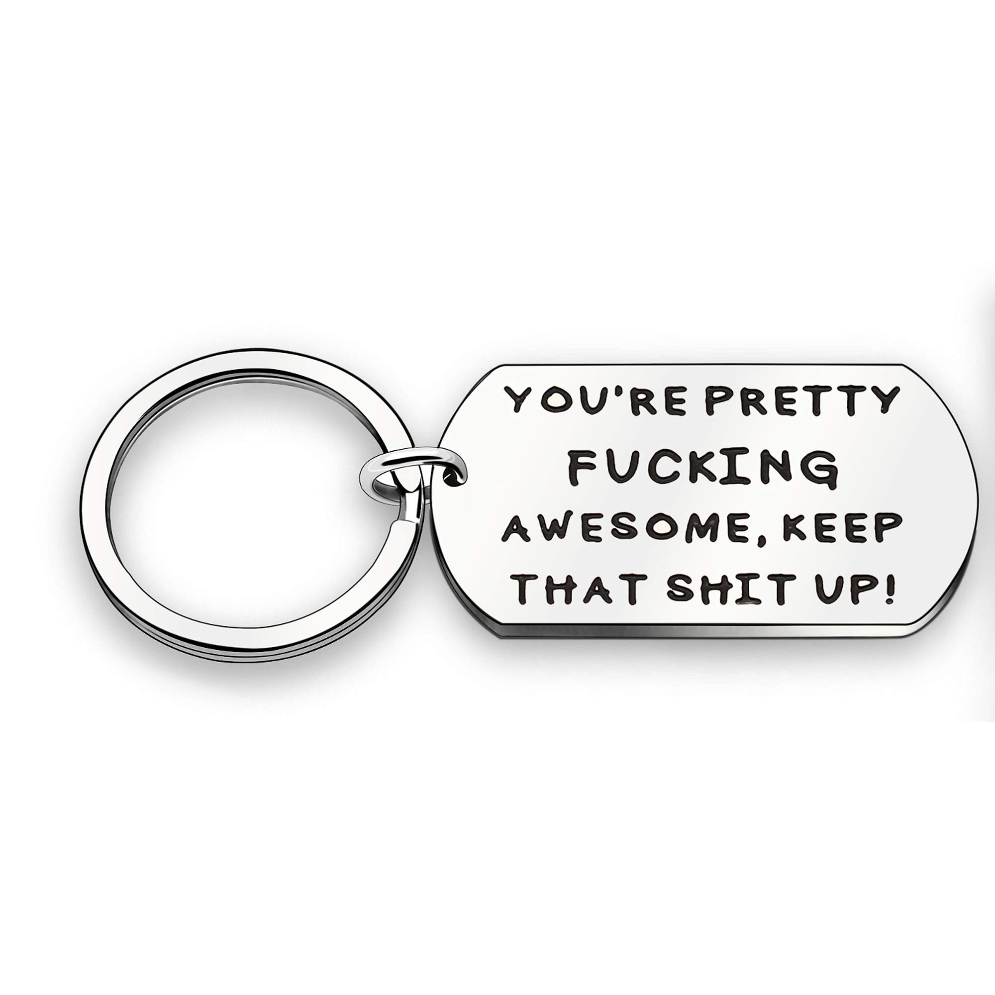 CAROMAY Keychain Women Men Best Friends Lover Jewelry You're Pretty Fucking Awesome