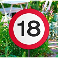 La señal de tráfico 18o cumpleaños decoración